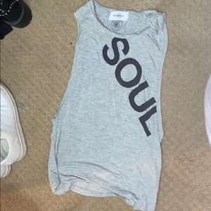 Soul cycle tank top grey small